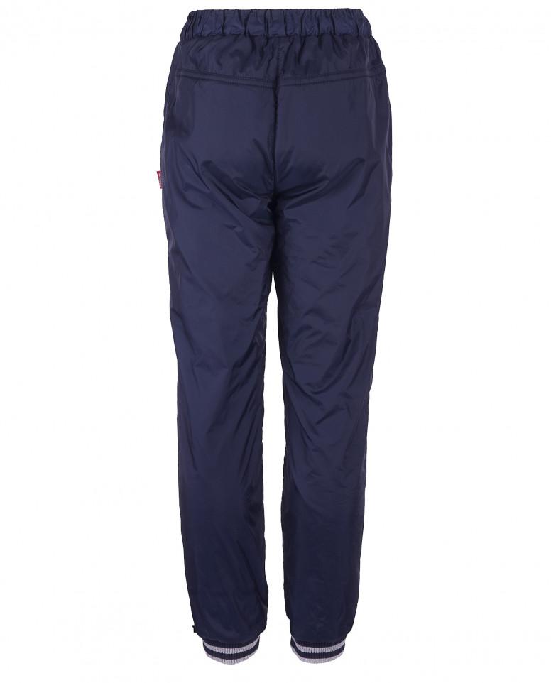 Синие брюки с манжетами на резинке