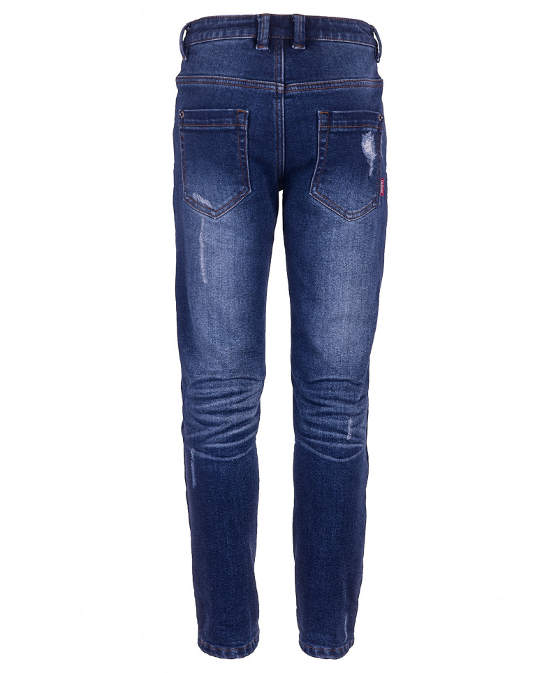 Синие джинсы на флисовой подкладке