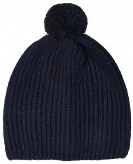 Синяя вязаная шапка с люрексом OUTLET