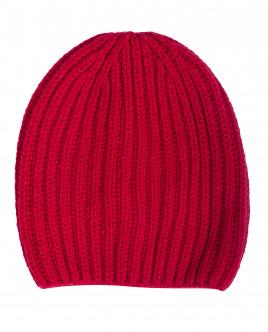 Красная вязаная шапка с люрексом OUTLET