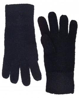 Синие вязаные перчатки с люрексом OUTLET