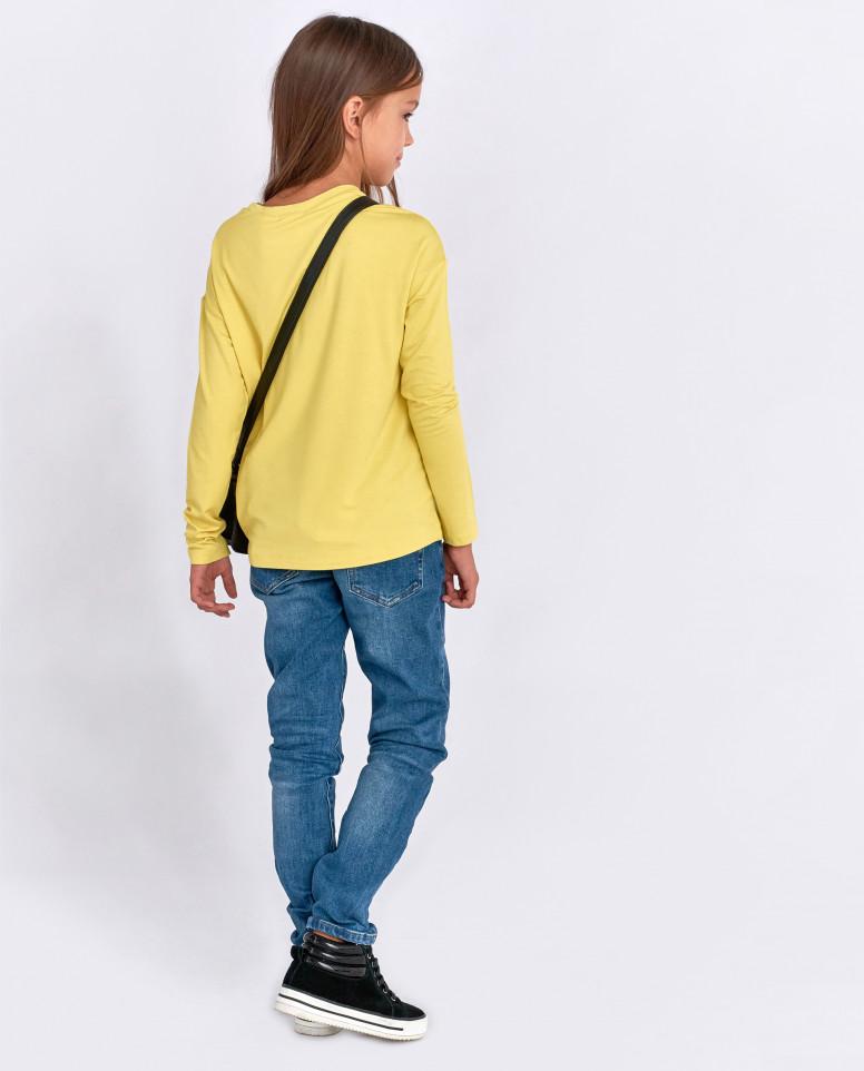 Желтый джемпер с пайетками