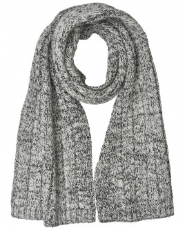 Черно-белый вязаный шарф OUTLET