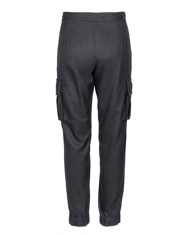 Черные зауженные брюки