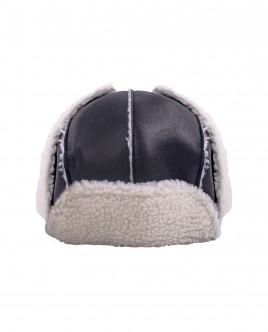 Черная плащевая шапка OUTLET