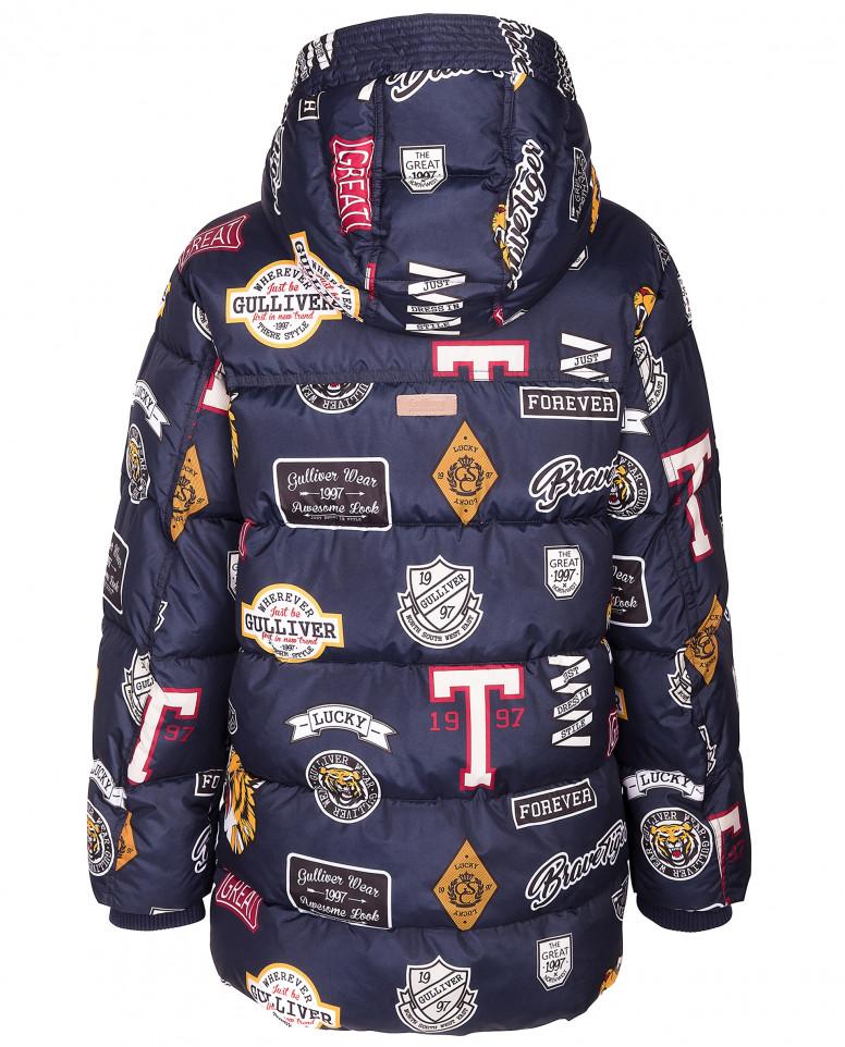Зимняя куртка с принтами