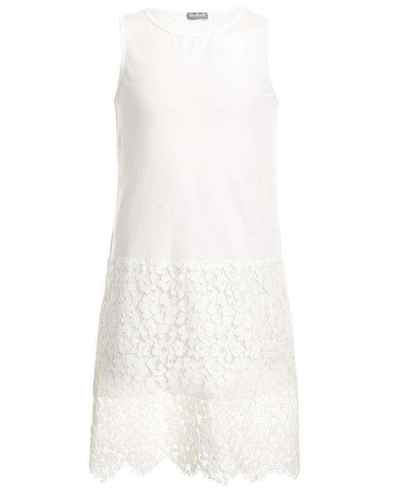 Комплект из вязаного платья с сарафаном
