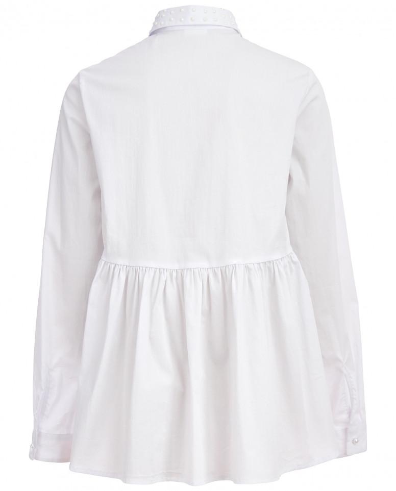 Белая блузка с баской