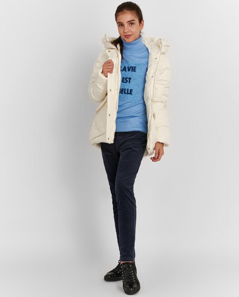 Зимняя куртка с кружевом
