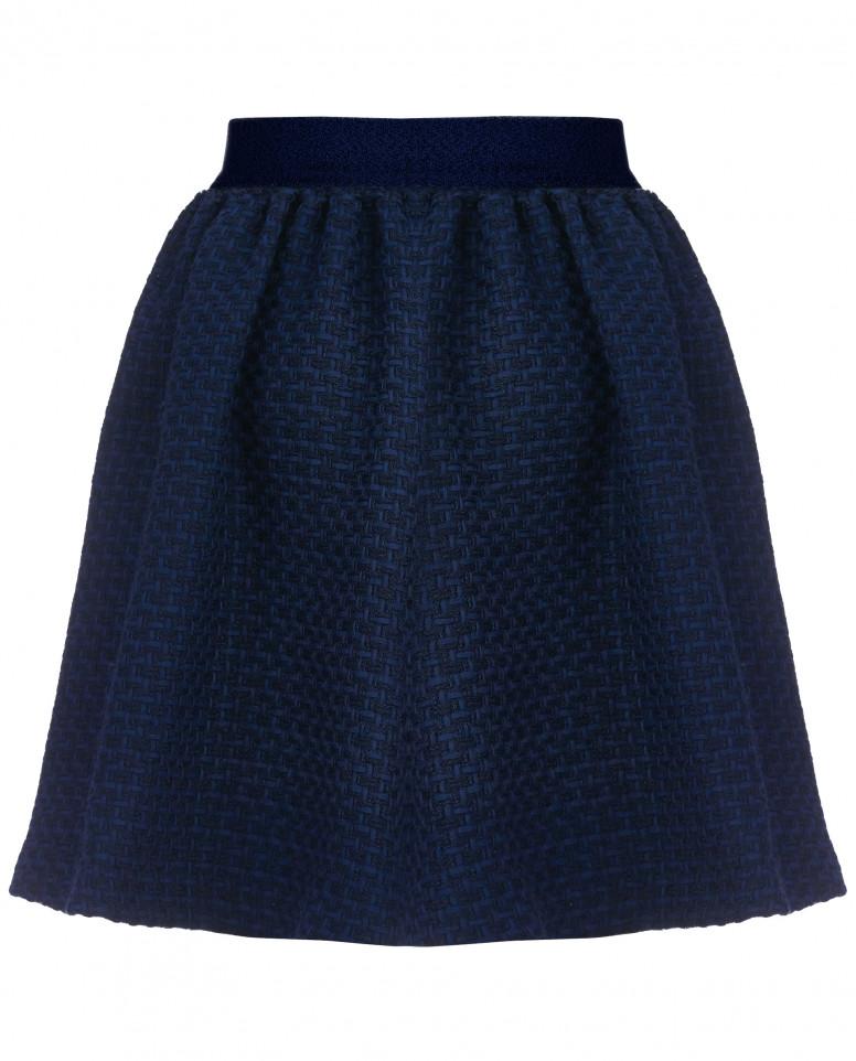 Синяя расклешенная юбка