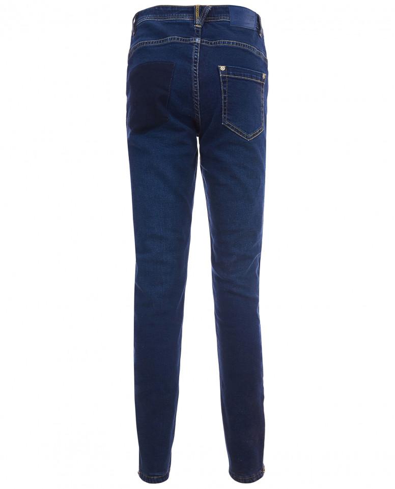 Синие утепленные джинсы