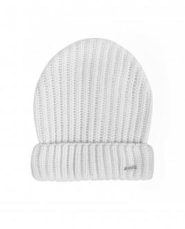 Белая вязаная шапка OUTLET