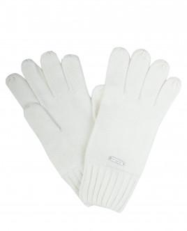 Белые вязаные перчатки OUTLET