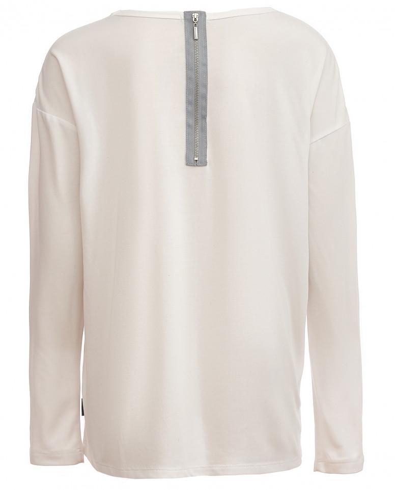 Белая футболка с сияющим принтом