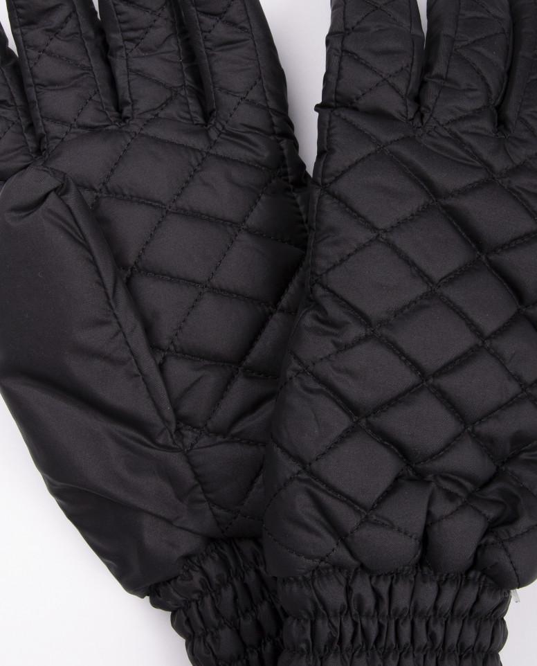 Черные плащевые перчатки