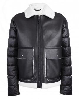 Куртка из искусственной дубленой кожи OUTLET