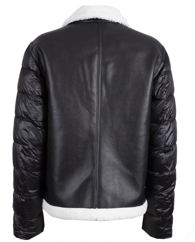 Куртка из искусственной дубленой кожи