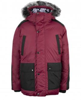 Бордовая зимняя куртка Gulliver OUTLET