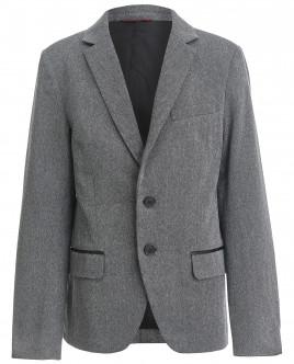 Твидовый серый пиджак OUTLET