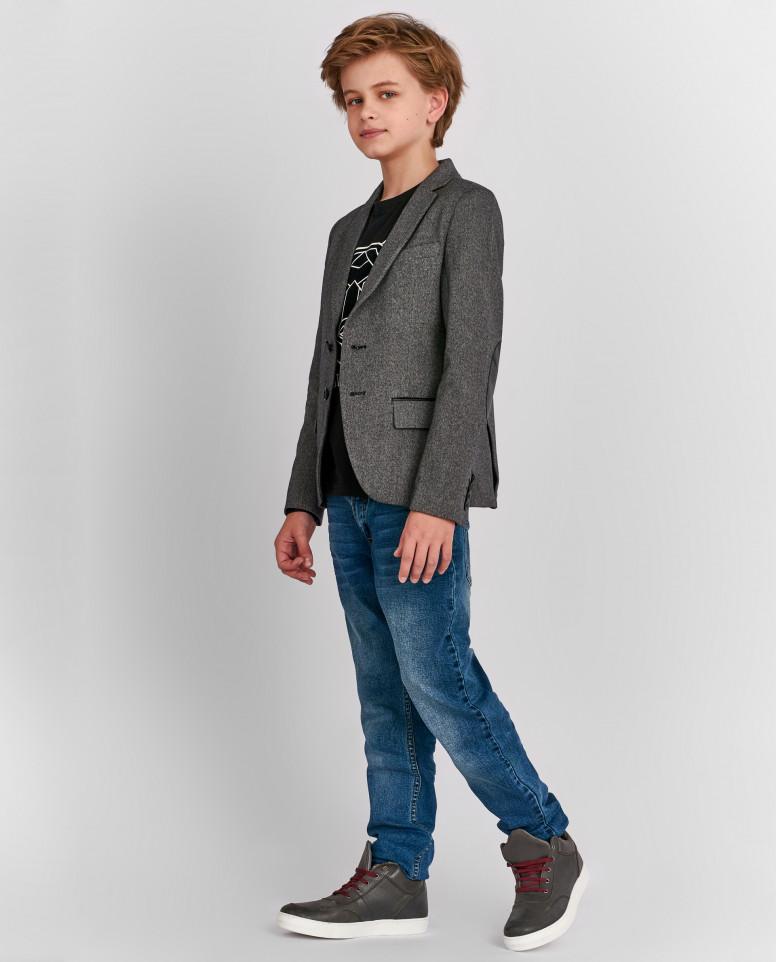 Твидовый серый пиджак