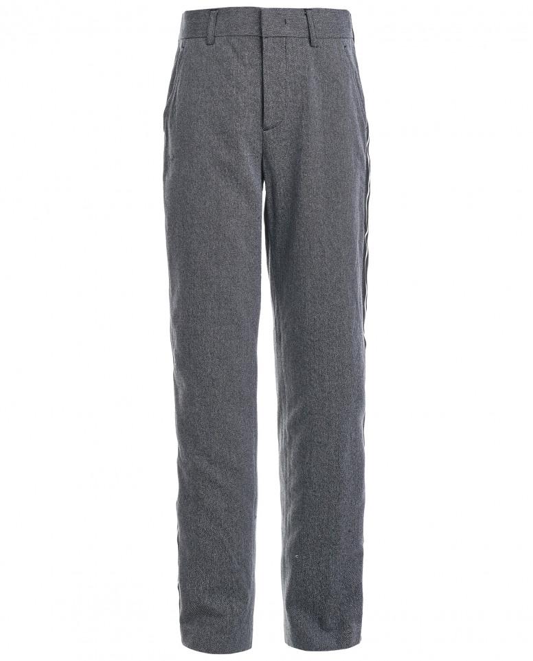 Твидовые серые брюки