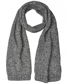 Серый вязаный шарф OUTLET
