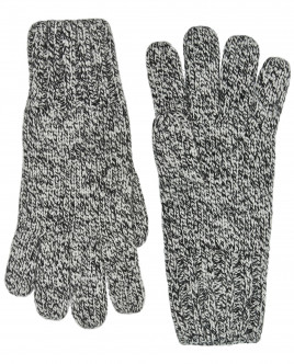 Серые вязаные перчатки OUTLET