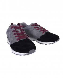 Серые с черным замшевые кроссовки OUTLET