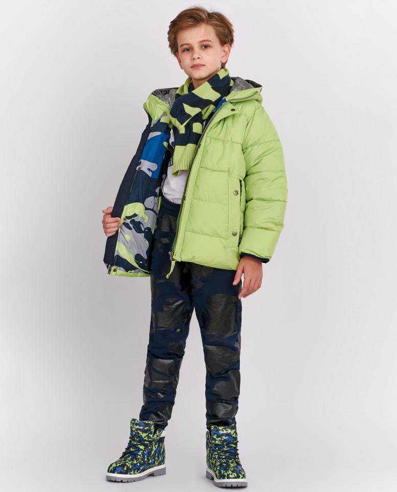 Зеленая зимняя куртка