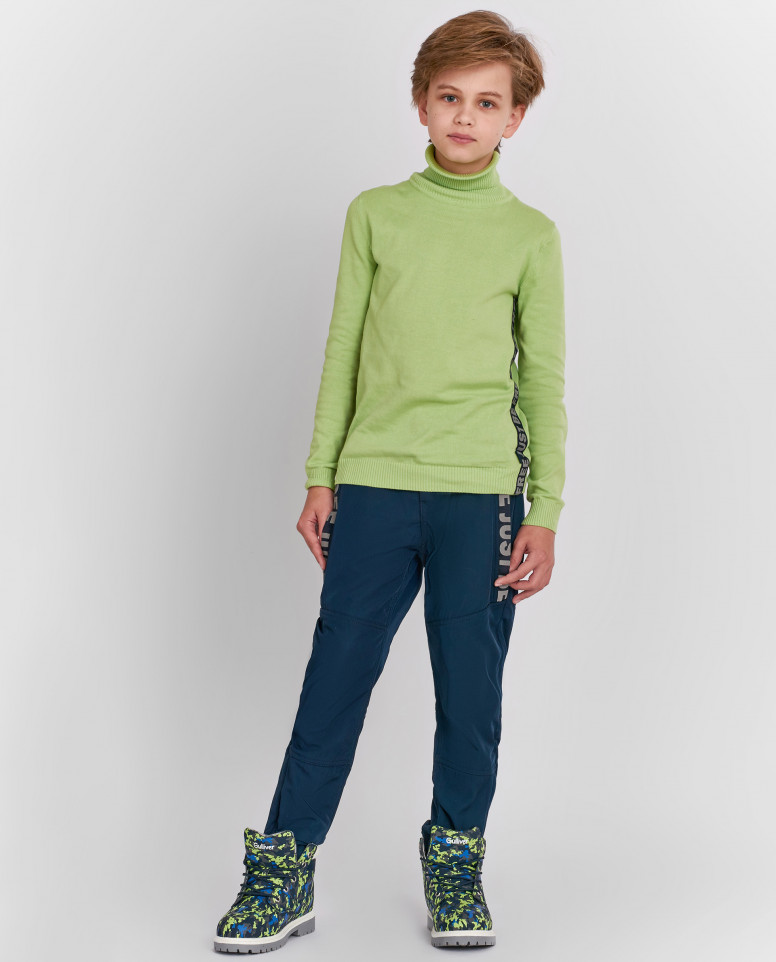 Синие демисезонные брюки