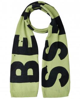 Вязаный шарф со шрифтовым декором OUTLET