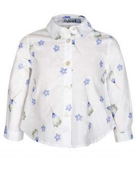 Белая блузка в мелкий цветочек Gulliver OUTLET