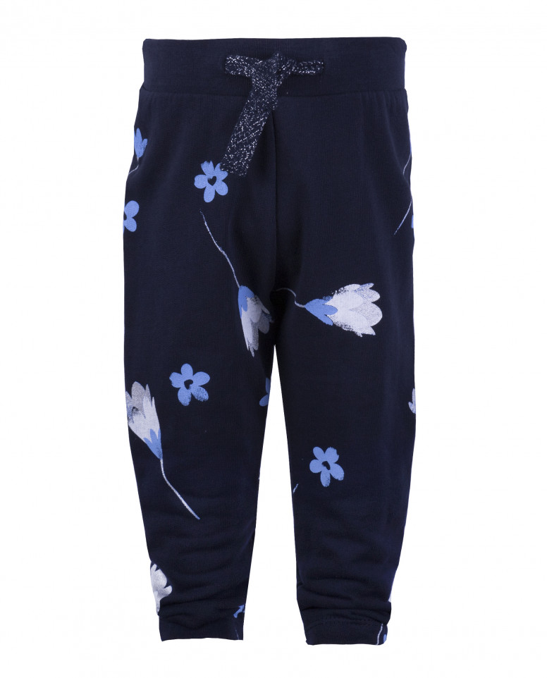 Синие брюки из футера
