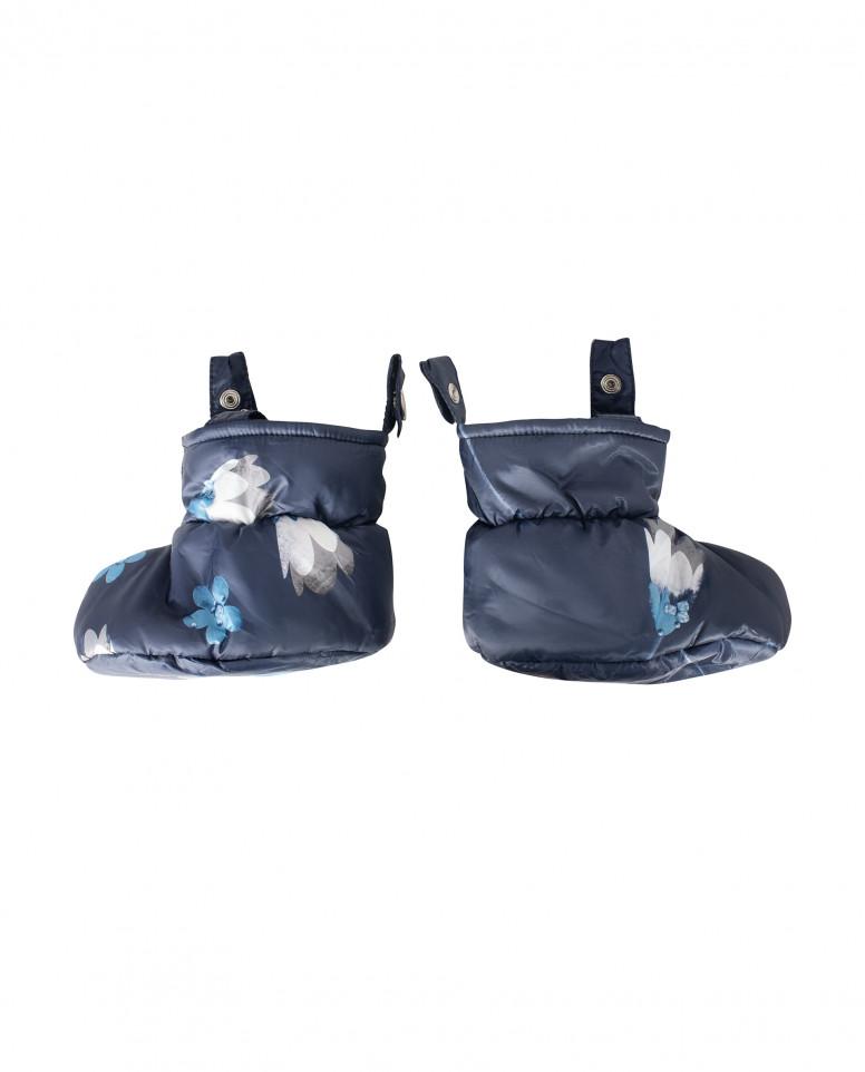 Синий комбинезон с отстегивающимися пинетками