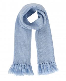 Голубой вязаный шарф OUTLET