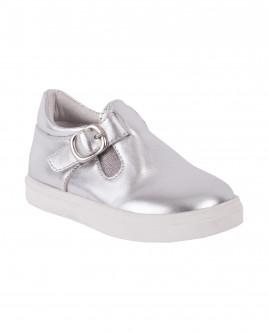 Серебряные кожаные туфли Gulliver OUTLET