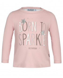 Розовая футболка с длинным рукавом OUTLET