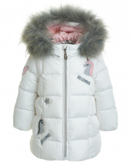Белое зимнее пальто OUTLET