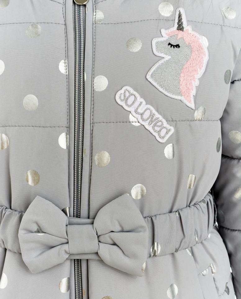 Серый зимний комбинезон