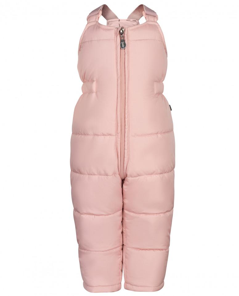 Розовый зимний полукомбинезон