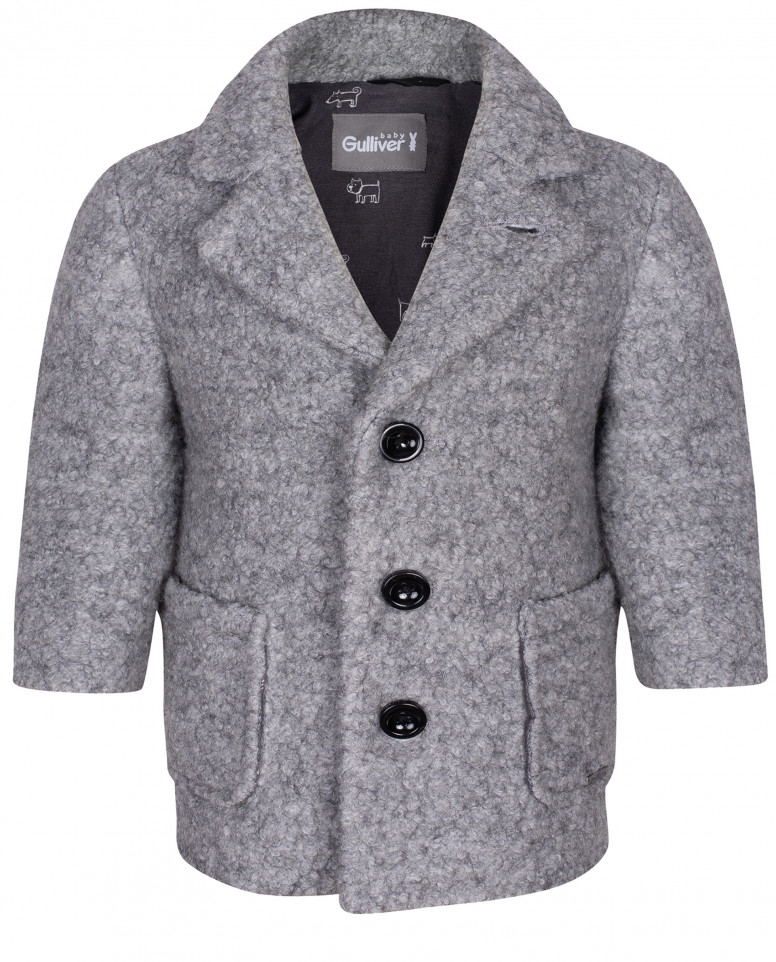Драповое пальто под каракуль