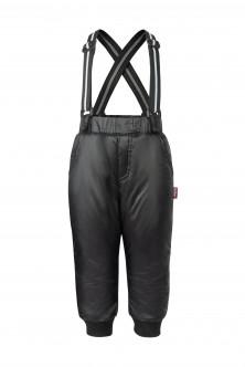 Черные брюки с отстегивающимися бретелями OUTLET