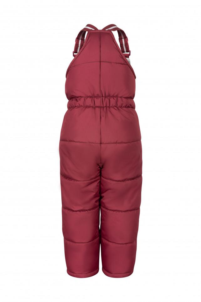 Бордовый зимний полукомбинезон