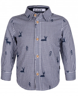 Клетчатая рубашка с орнаментом OUTLET