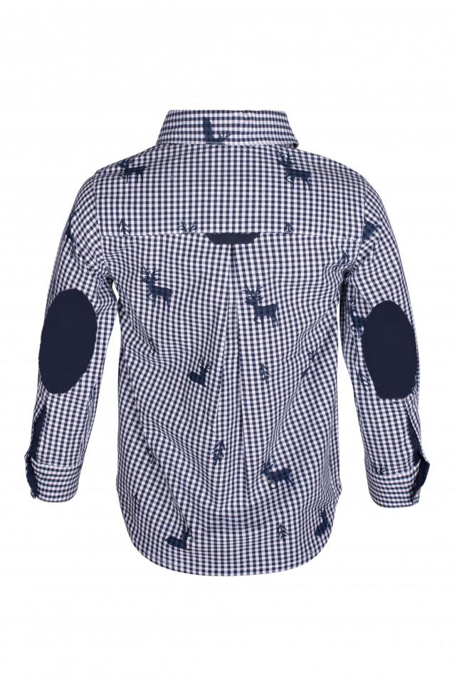Клетчатая рубашка с орнаментом