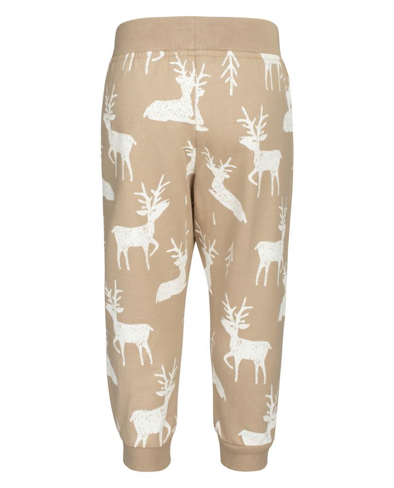 Бежевые брюки из футера