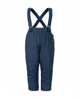 Синие брюки с отстегивающимися бретелями OUTLET