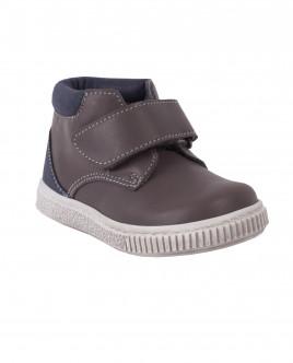 Кожаные ботинки с застежкой на липучке OUTLET
