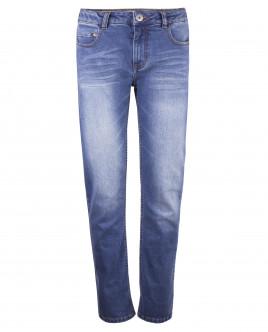 Голубые джинсы с потертостями OUTLET
