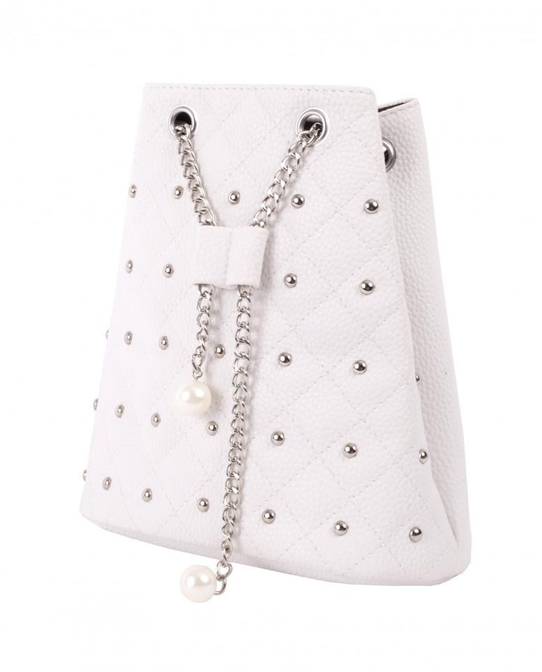 Белая сумка-кисет